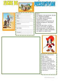 Présentation personnages Dialogue  Exercices  Pinterest