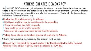 chapter 8 ancient greece section 2 government in athens ppt