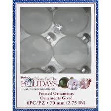darice decor frosted glass ornaments 70mm 6pcs