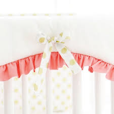 Pink And Gold Nursery Bedding Gold And Coral Crib Rail Cover Set Gold Crib Bedding