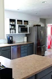 bathroom pretty two tone kitchen cabinets grey and white color