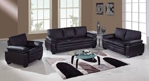 global furniture bonded leather sofa 1567 3 pc black bonded leather sofa set sofa loveseat and chair