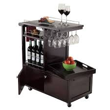 amazon com winsome wood galen entertainment cart bar u0026 serving