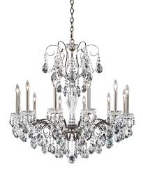 12 Light Chandeliers Schonbek St1949 Sonatina 34 Inch Wide 12 Light Chandelier