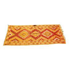 Vintage Tribal Rugs Vintage Moroccan Orange Tribal Rug For Sale At 1stdibs