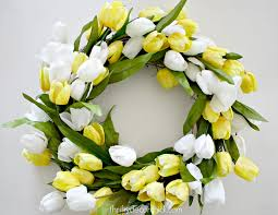 easy inexpensive and beautiful diy spring wreath from thrifty
