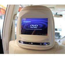 toyota highlander dvd headrest 2pcs lot car headrest monitor for toyota camry rav4 highlander