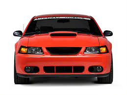 2003 04 mustang cobra fog light bezel kit speedform mustang cobra front fascia conversion kit unpainted
