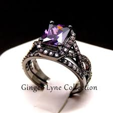 black and purple engagement rings sally black and purple engagement ring and wedding