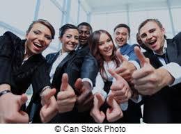 equipe bureau bureau business haut multi ethnique pouces équipe image