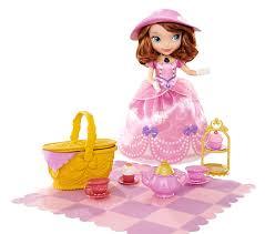 amazon disney sofia tea party picnic doll toys u0026 games