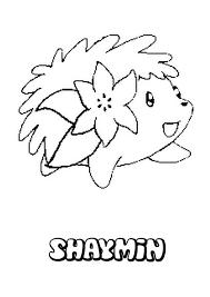 shaymin hedgehog pokemon coloring pages bulk color