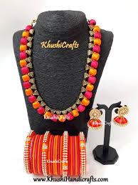 pink jewelry necklace images Buy silk thread jewelry silk jewelry designer jewellery online jpg
