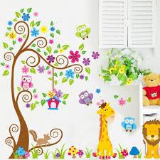 Livingroom Cartoon Wholesale Giraffe Lion King Cartoon Paper Bedroom Living Room