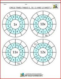 times tables worksheets circles times tables 2 to 10 sheet 2 out