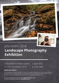 free exhibit flyer template loaded landscapes