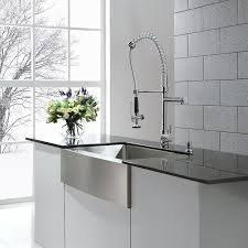 commercial sink faucets with sprayer kraus kpf1602 single handle pull down kitchen faucet commercial with