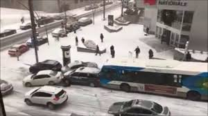 montreal canada crazy funny snow u0026 ice car accident funny pileup