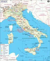 Spain On A Map Italy Map Printable And Detailed Map Of Italy