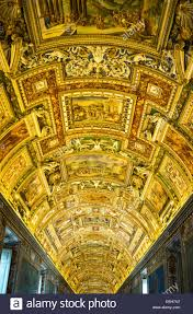 Decorated Ceiling Rome Vatican Museums The Golden Decorated Ceiling Of The Gallery