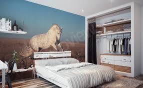 chambre cheval fille papiers peints chevaux mur aux dimensions myloview fr