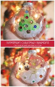 thumbprint ornaments kid craft glued to my crafts