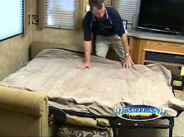 Folding Bed Mattress Replacements 2013 Heartland Rv Hide A Bed Air Mattress Product Video By Dick
