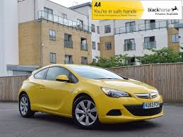 Used Yellow Vauxhall Astra Gtc For Sale Rac Cars