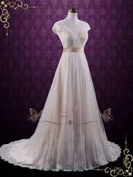 vintage lace wedding dress with cap sleeves linden ieie bridal
