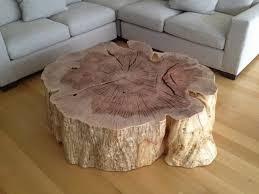 wood stump coffee table large tree stump table localizethis org curious tree stump side
