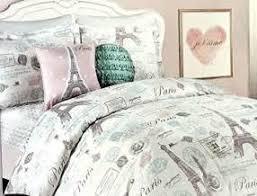 twin bedding girls comforter bed set paris eiffel tower london