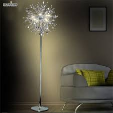 Flower Table Lamp Crystal Living Room Stand Floor Lamp Modern Flower Floor Light For