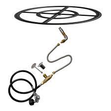 Fire Pit Burner Kits by Stanbroil Natural Gas Fire Pit Burner Ring Installation Kit Black