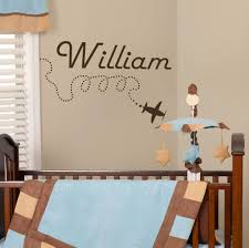 online get cheap wall decal baby name aliexpress com alibaba group new arrival wall decal personalized name aircrafts plane sticker baby boy nursery decor modern decoration in