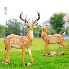 courtyard garden ornaments decorative deer lawn ornaments resin