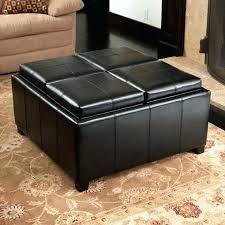 Leather Coffee Table Storage Leather Tufted Ottoman Coffee Table Ottoman Coffee Table