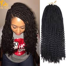 Curly Braiding Hair Extensions by 20 U0027 U0027 Curly Goddess Faux Locs Crochet Hair Freetress Curly Crochet