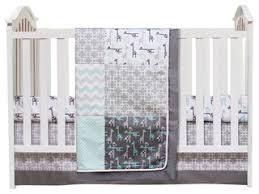 trend lab safari chevron 3 piece crib bedding set u0026 reviews houzz