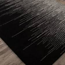 Black Modern Rug Ombre Modern Wool Rug Shades Of Light