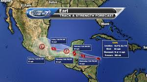Local Weather Map Tropical Storm Earl Forecast To Become A Hurricane Local Weather