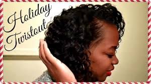 flat twistout on wet relaxed holiday curls youtube