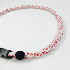 titanium necklace images Baseball lace titanium necklace elite athletic gear jpg