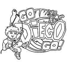 Go Diego Go Coloring Pages Funycoloring Go Diego Go Coloring Pages