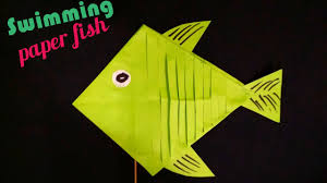 how to make an origami moving paper fish swimming paper fish