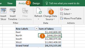 Change Pivot Table Data Range How To Change Pivot Table Data Source Excel