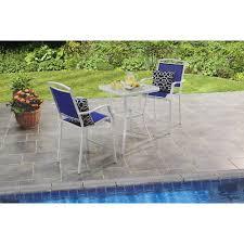 Patio Table Seats 10 Patio Furniture Bistro Set Blue High Dining 3 Pc Outdoor Garden