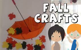 diy umbrella with leaves crafts for fall preschool crafts