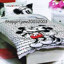 Mickey And Minnie Comforter Disney Minnie Mouse Handmade Reversible Single Duvet Quilt Cover