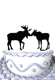 walking dead party favors wedding cake topper bull and cow in love