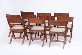 10 pierre jeanneret library dining chairs for sale at 1stdibs 10 pierre jeanneret library dining chairs 2